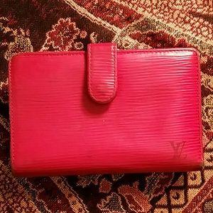 Louis Vuitton red Epi wallet